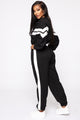 Pull Up Colorblock Jumpsuit - Black/White