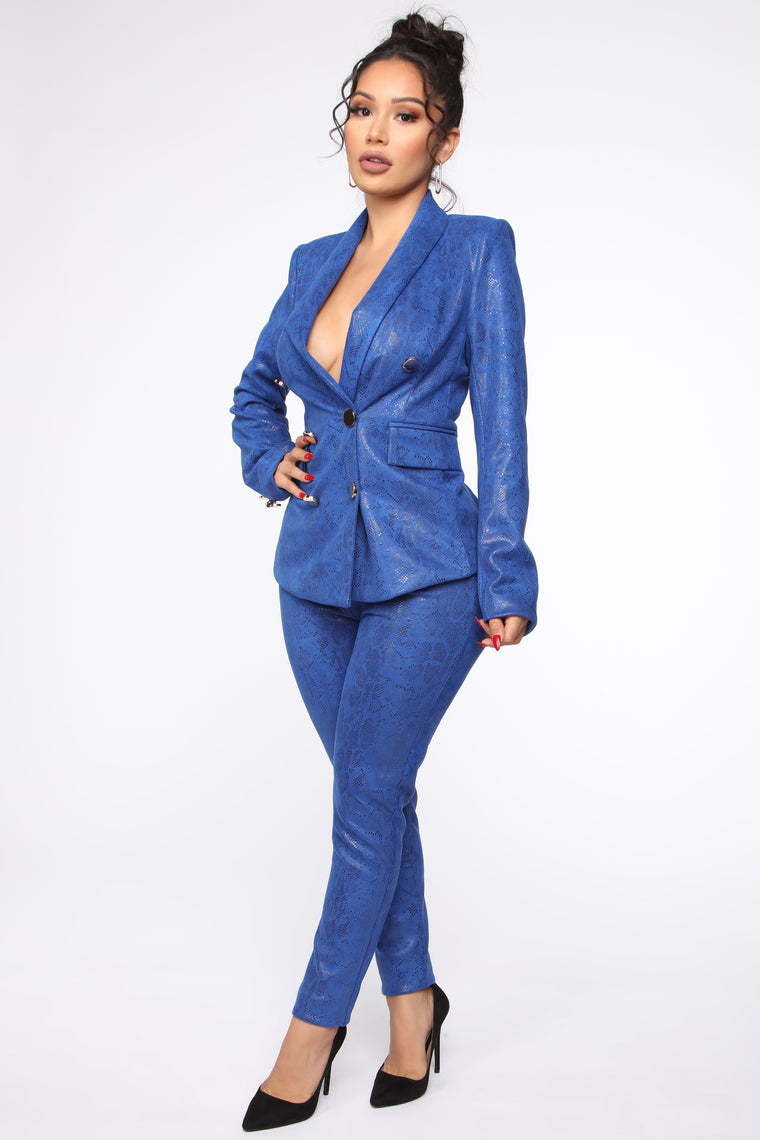 Sly CEO Suit Set - Royal/combo