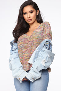 I'm So Into You Sweater - Multi Color