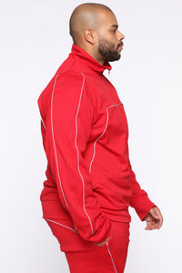 Isaiah Track Jacket - Red