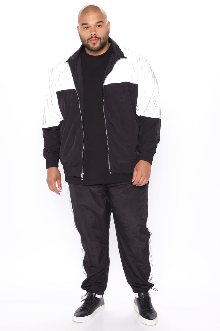 Good Impression Windbreaker Track Pant - Black/Silver