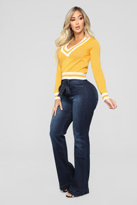 Better Now Contrast Sweater - Mustard