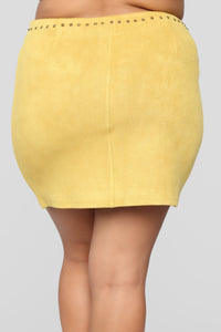 Let's Go For A Ride Skirt - Mustard