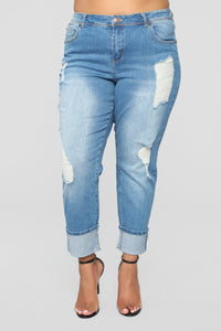 Eddie Boyfriend Jeans - Medium Wash Angle 8