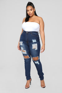 Say Yes To Distress Jeans - Dark Denim Angle 7