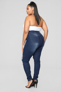Say Yes To Distress Jeans - Dark Denim Angle 11