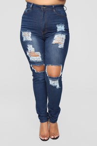 Say Yes To Distress Jeans - Dark Denim Angle 8