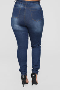Say Yes To Distress Jeans - Dark Denim Angle 12