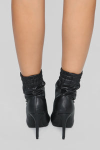Don't Be Mistaken Bootie - Black