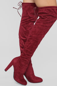 Go With The Flow Boot - Burgundy