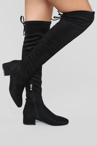 Actions Please Flat Boot - Black