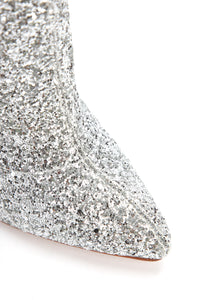 She Isn't Ready Heeled Boot - Silver