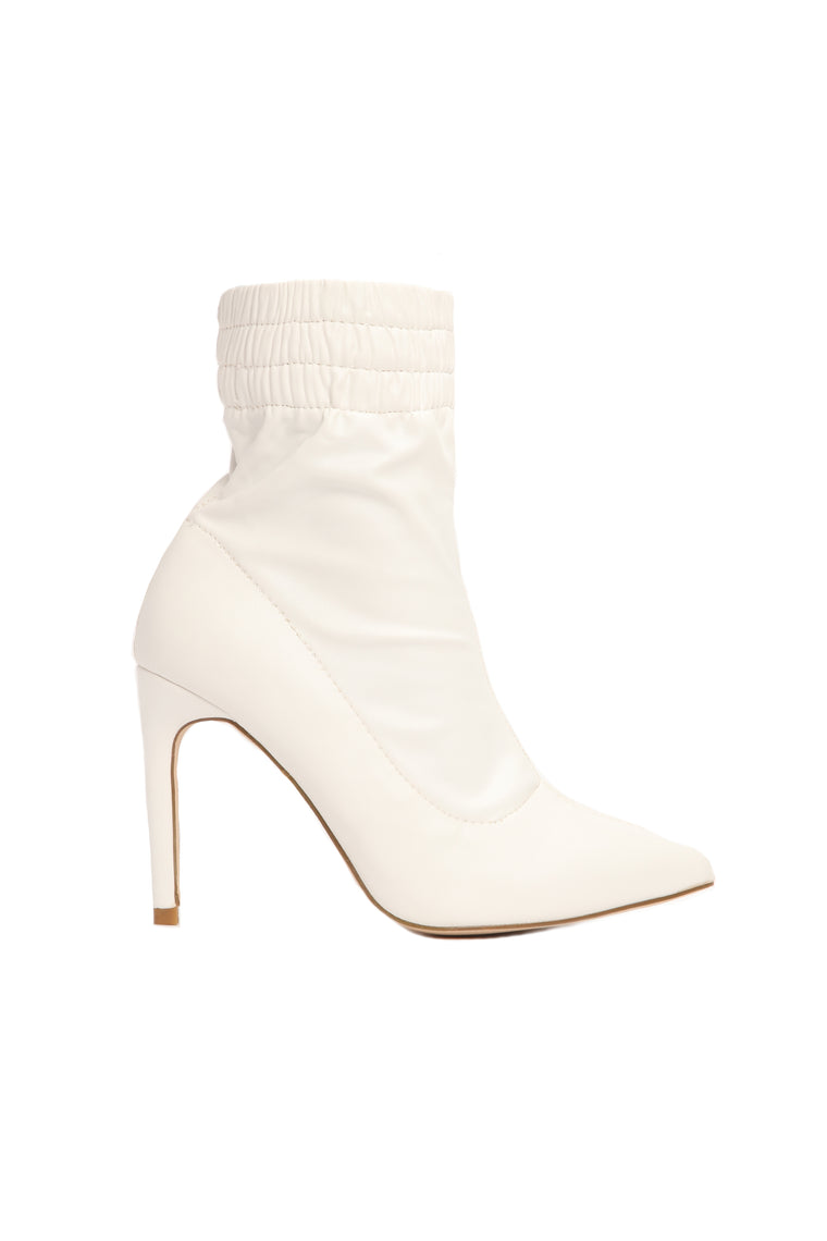 Don't Be Mistaken Bootie - White