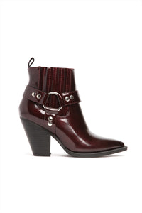 Saddle-Up Bootie - Burgundy