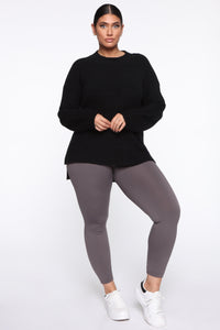 Smooth It Out High Rise Legging - Charcoal Angle 11