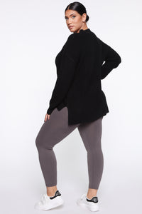 Smooth It Out High Rise Legging - Charcoal Angle 16