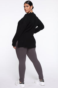 Snatch That Waist High Rise Legging - Charcoal Angle 6