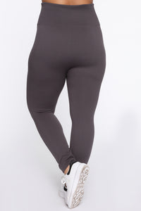 Snatch That Waist High Rise Legging - Charcoal Angle 5