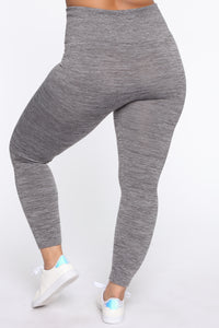 Curves Ahead High Rise Legging - Mocha