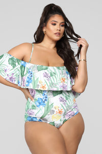 Not Yo Woman Swimsuit - White/Combo