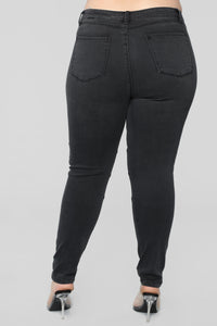 Loose Ends High Rise Jeans - Black
