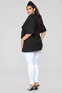 Poetic Justice Tunic Tee - Black
