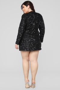 Not Afraid To Sparkle Dress - Black Angle 10