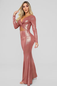 Shine On Maxi Dress - Rose