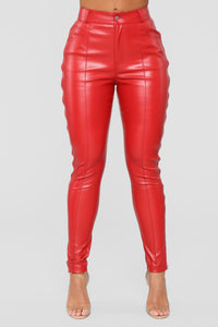 Just Zip It Pants - Red