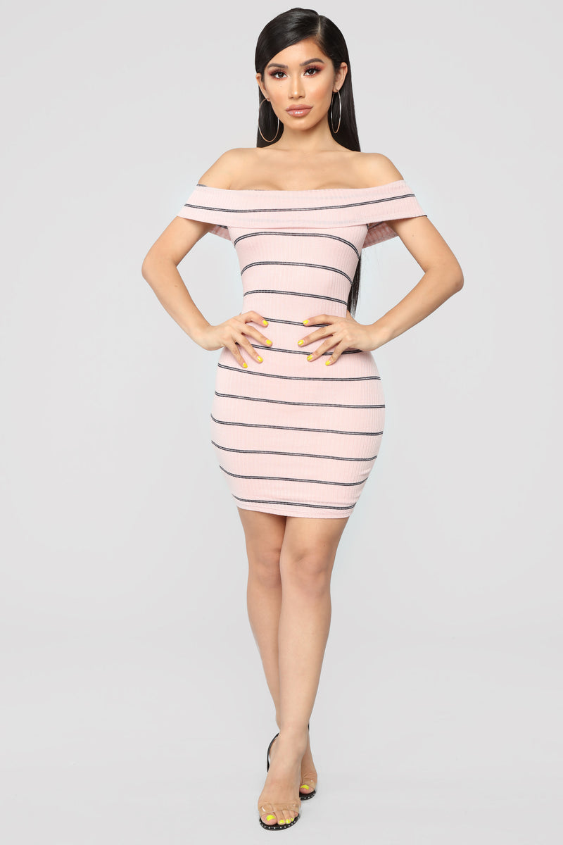 Sweet Nothings Striped Dress - Pink