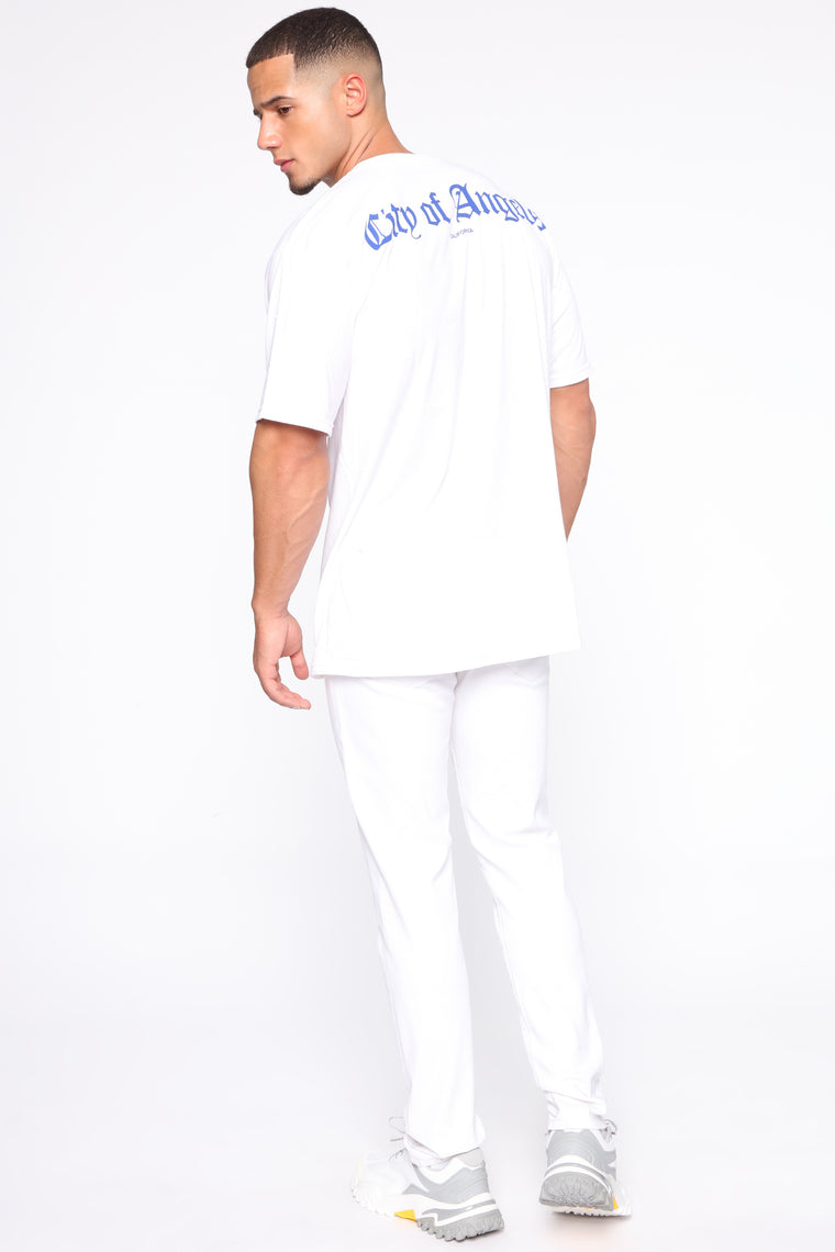 City Of Angeles Short Sleeve Tee - White/Blue