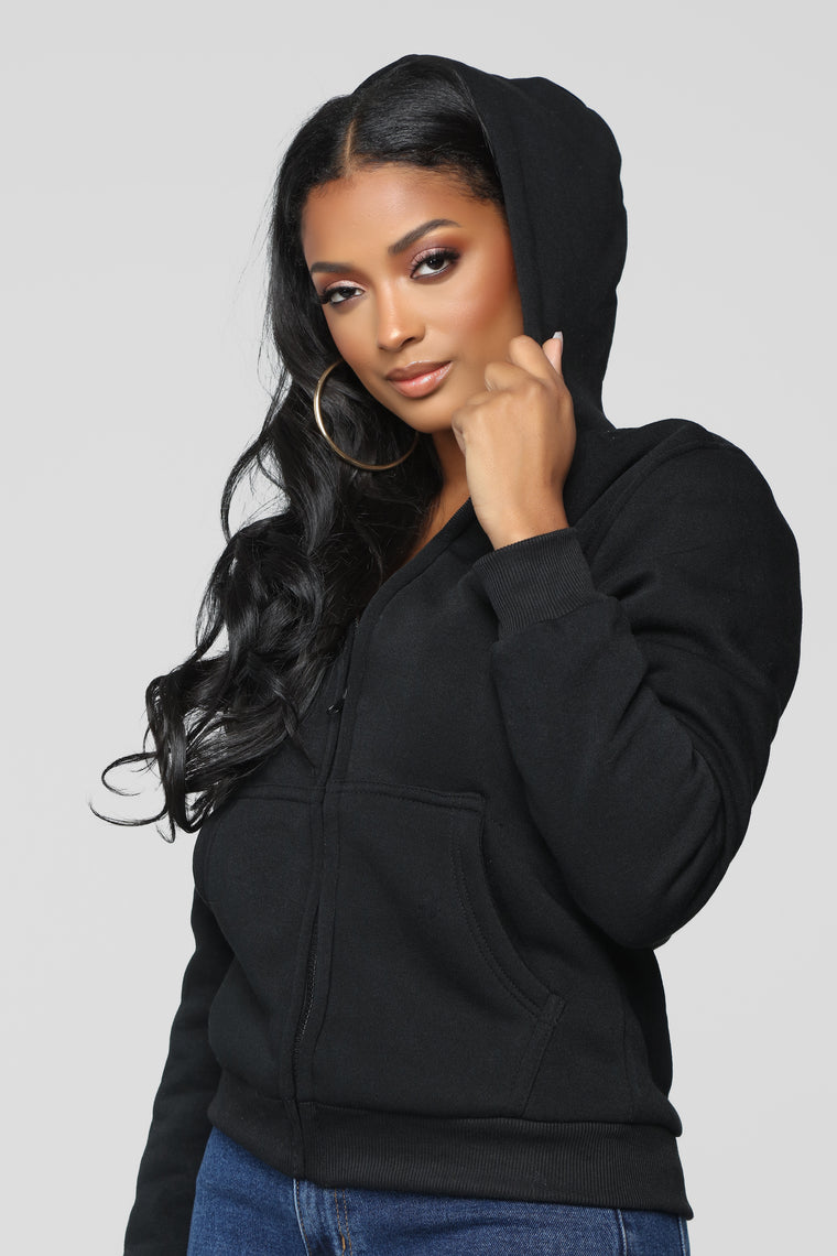 Cozy As You Can Be Lounge Hoodie - Black