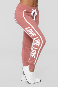 Repeat My Love Jogger - Pink