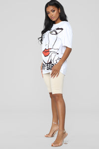 Cry Baby Tunic Top - White