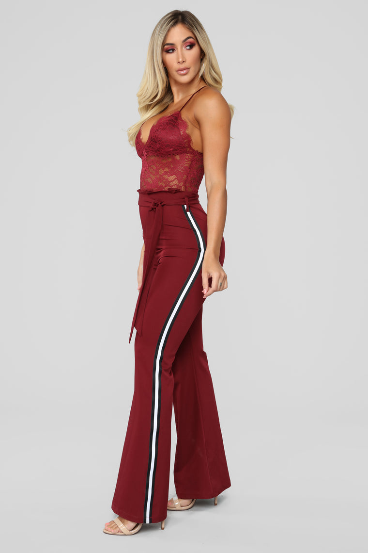 Own It Jumpsuit - Burgundy