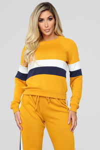 Above Average Lounge Top - Mustard
