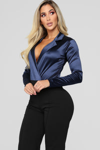 Role Play Bodysuit - Navy Angle 2