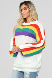 Feeling Happy Sweater - White