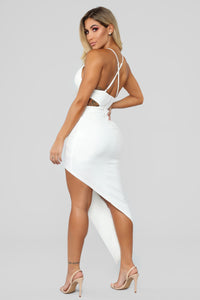 Mixed Feelings Asymmetrical Dress - White