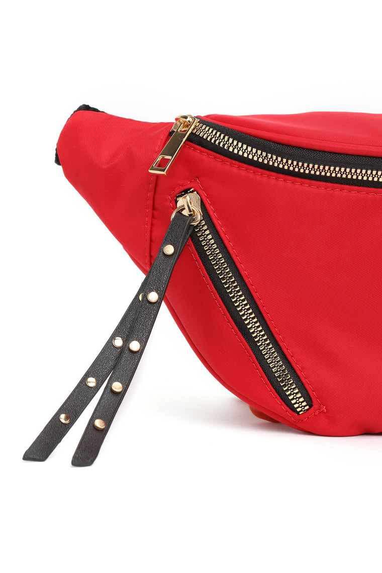 Zoey Nylon Fanny Pack - Red