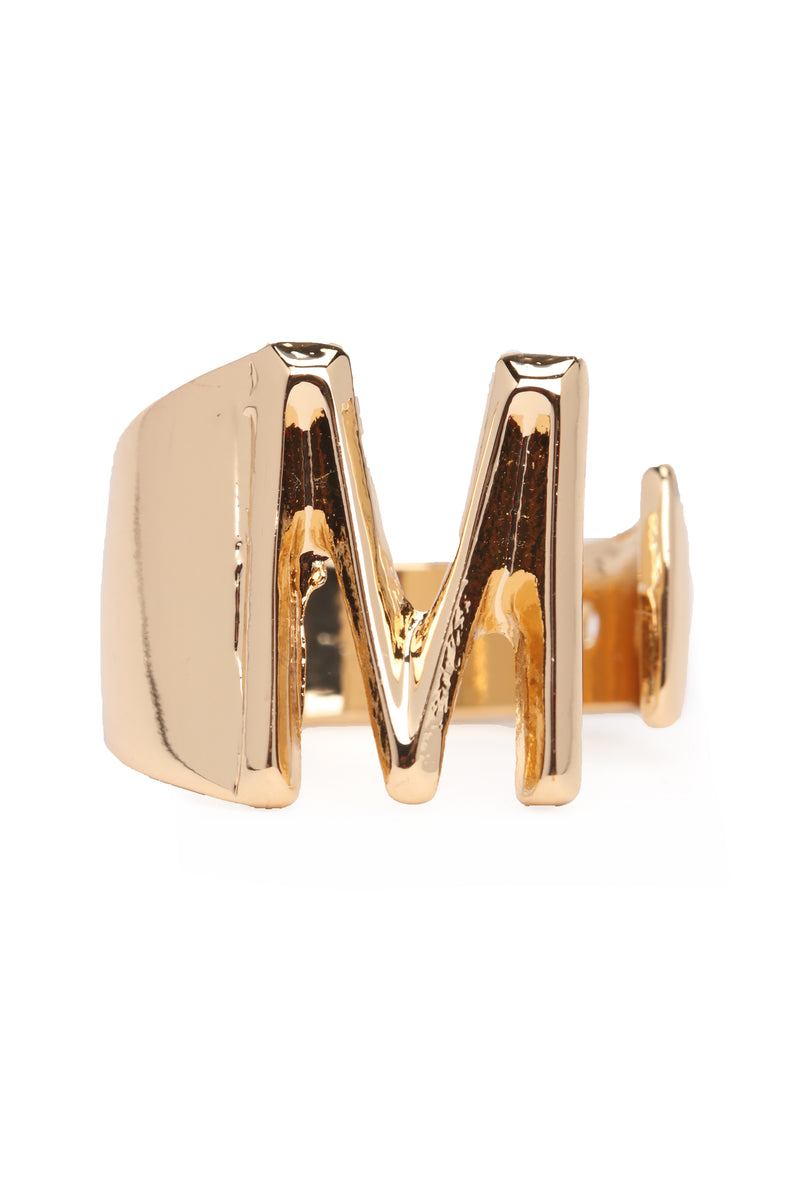 "Initial Here ""M"" Ring - Gold"