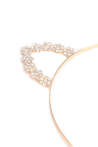 Feline Sparkle Headband - Gold