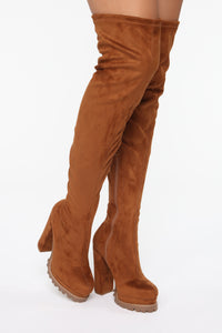 Can't You See Heeled Boots - Tan Angle 3