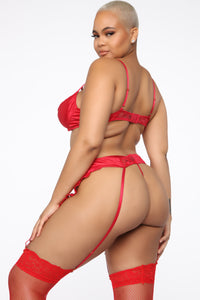 Almost Is Never Enough Lace 3 Piece Set - Red Angle 7