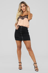 After Dark Lace Cami - Blush