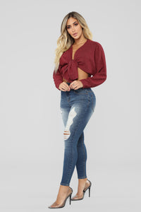 Pretty Little Lies Sweater - Wine
