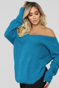 Autumn's Favorite Girl Sweater - Teal