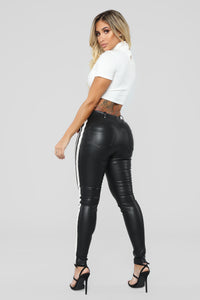 Activate Me Lace Up Pants - Black