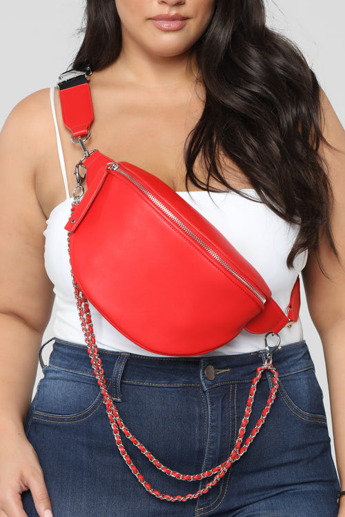 Chained My Ways Fanny Pack - Red