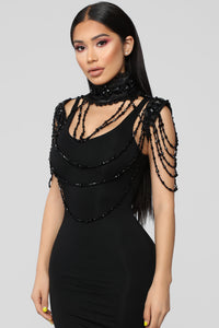 Abbey Chain Body Chain - Black
